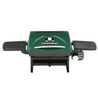 1-Burner Everyday Portable Propane Gas Grill in Green