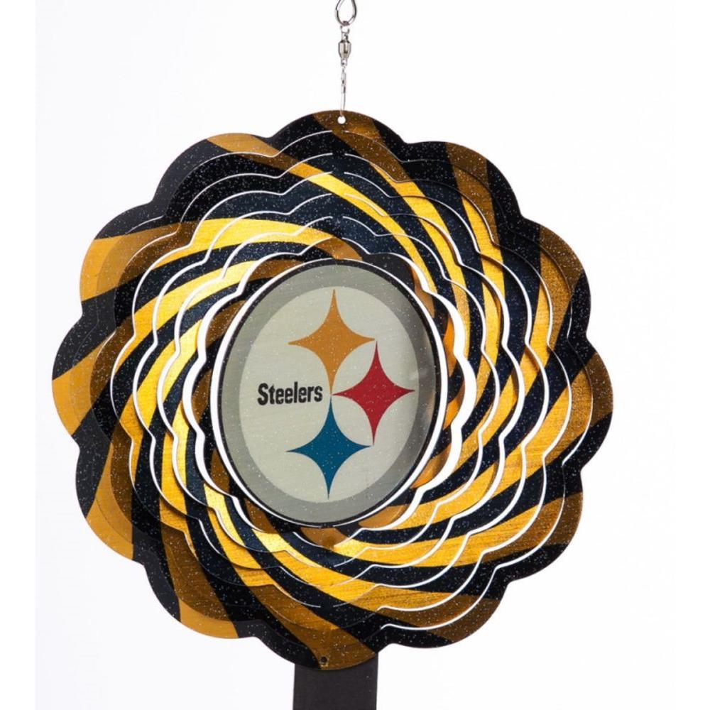 NFL 10 in. Pittsburgh Steelers Geo Spinner
