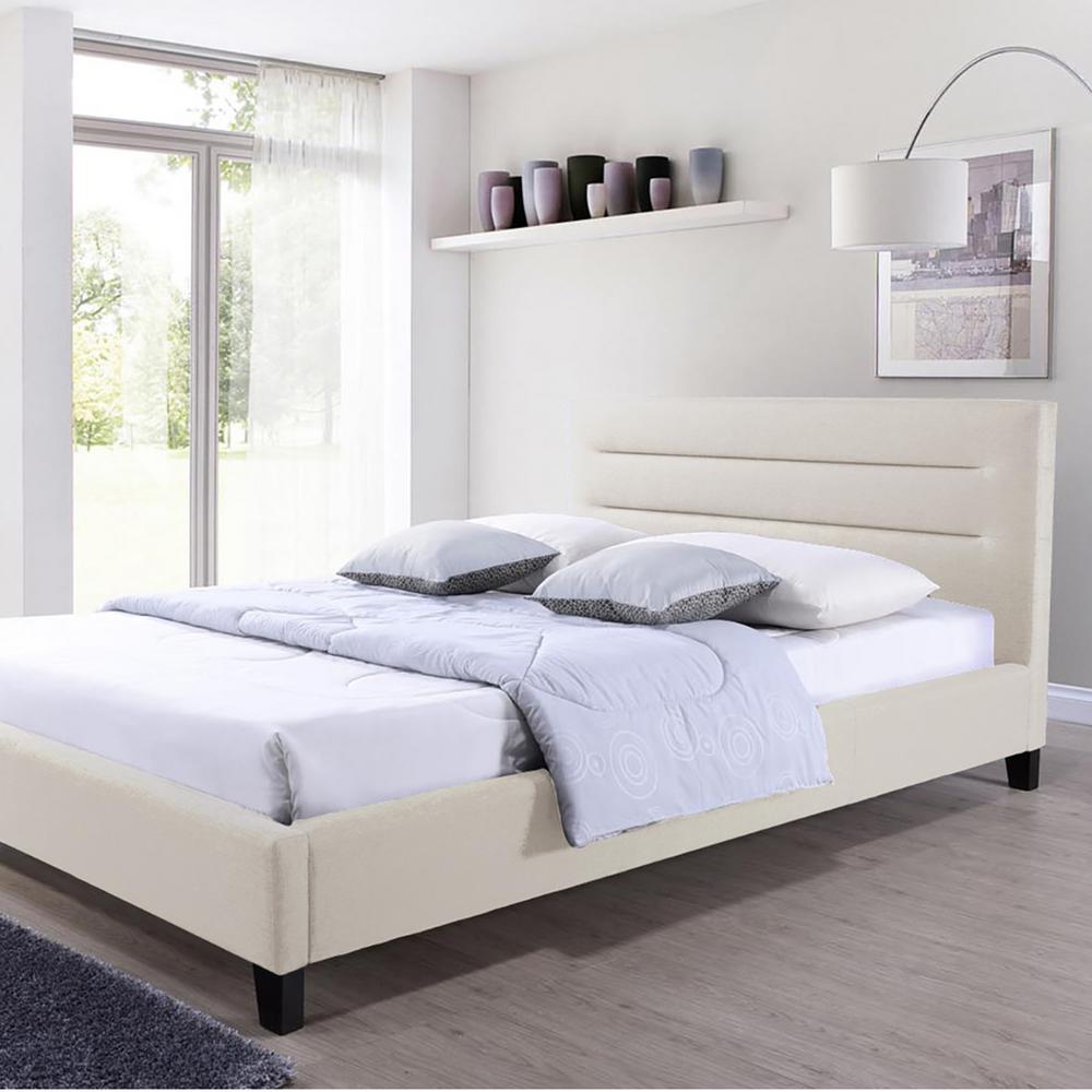 Hillary Beige King Upholstered Bed