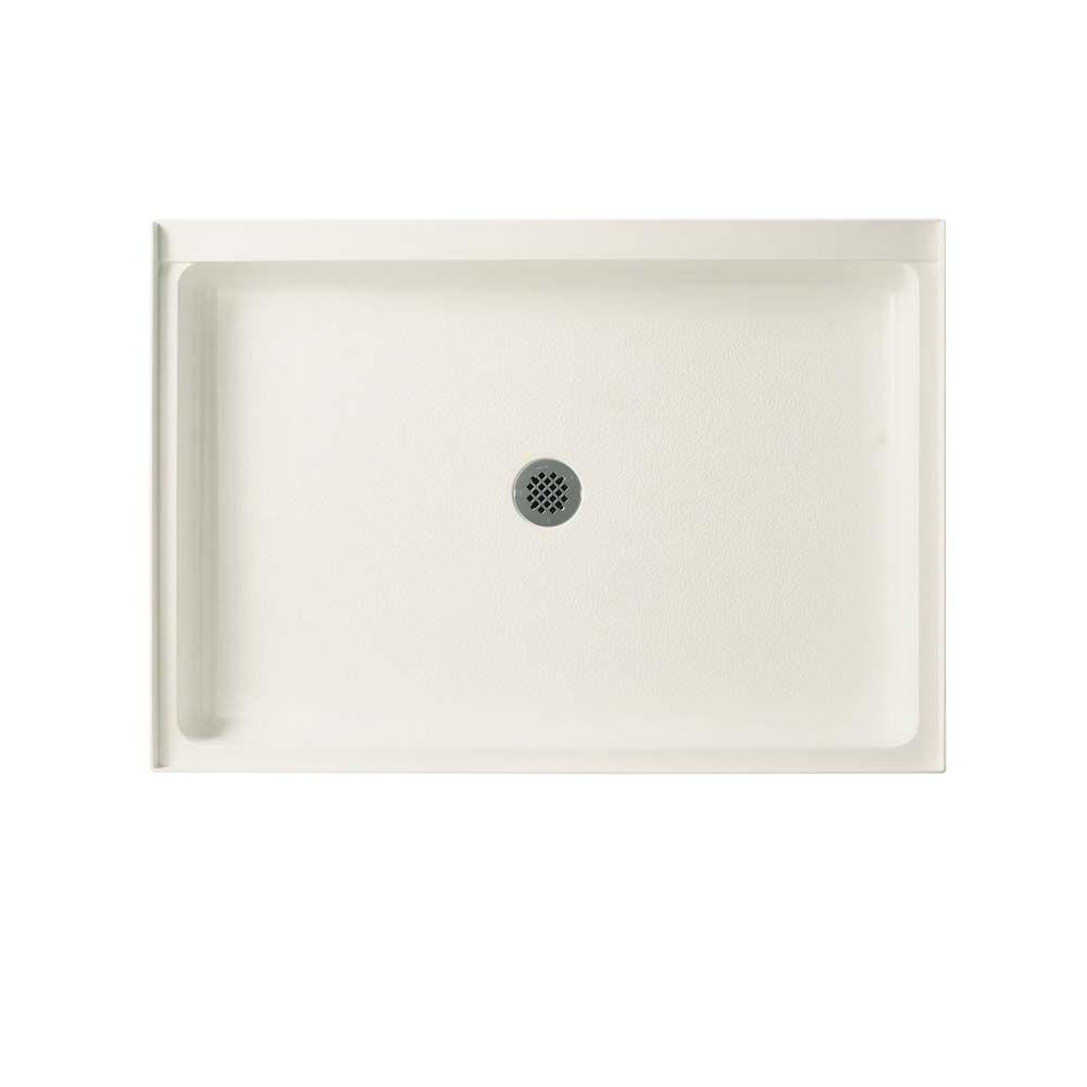 Swan 34 In X 54 In Solid Surface Single Threshold Center Drain Shower Pan In Bisque Sf03454md 018 The Home Depot