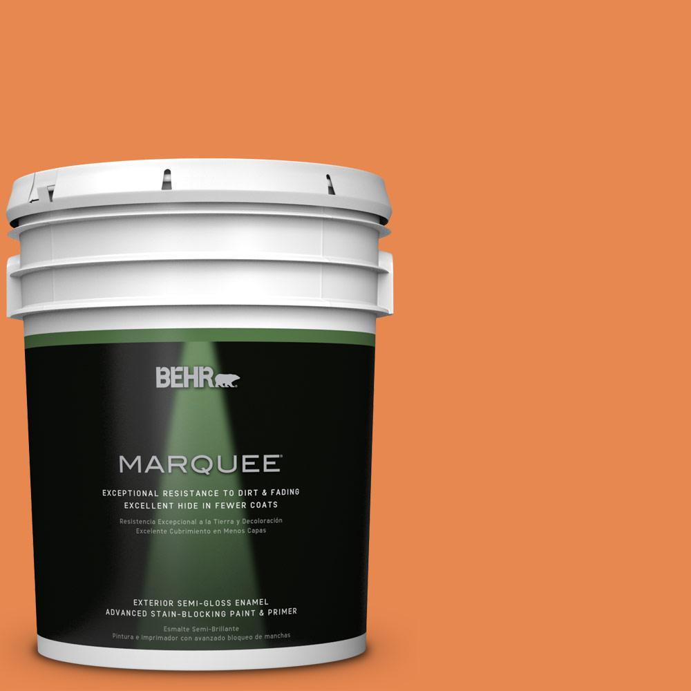5-gal. #P210-6 Mandarin Semi-Gloss Enamel Exterior Paint