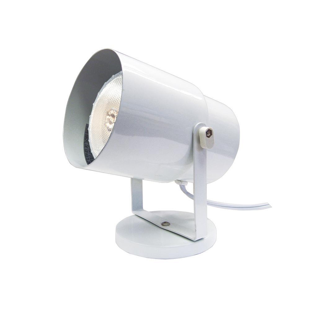 5.75 in. 1-Light White Floor Lamp