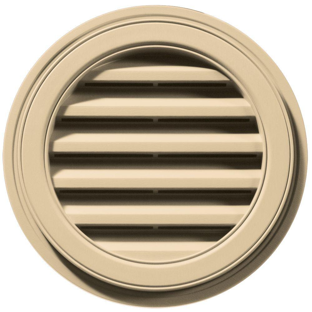 18 in. Round Gable Vent in Dark Almond