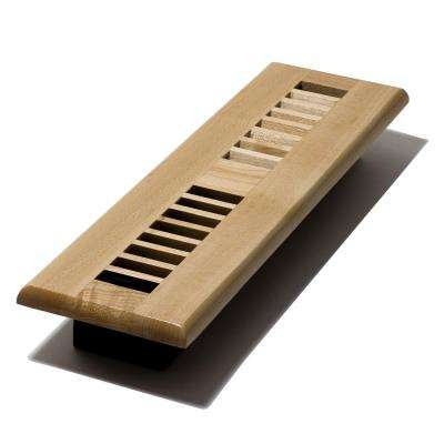 2 in. x 12 in. Floor Register, Natural Maple