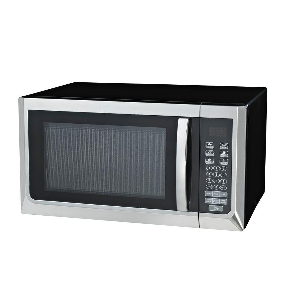 Ge 1 1 Cu Ft Countertop Microwave In Stainless Steel