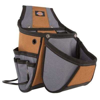 13-Pocket Utility Kickstand Pouch Grey / Tan