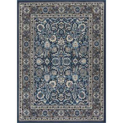 Persa Tabriz 7 ft. 10 in. x 9 ft. 10 in. Traditional Oriental French Country Blue Area Rug