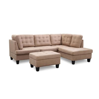 Prime Microfiber Beige Sectionals Living Room Furniture Ncnpc Chair Design For Home Ncnpcorg