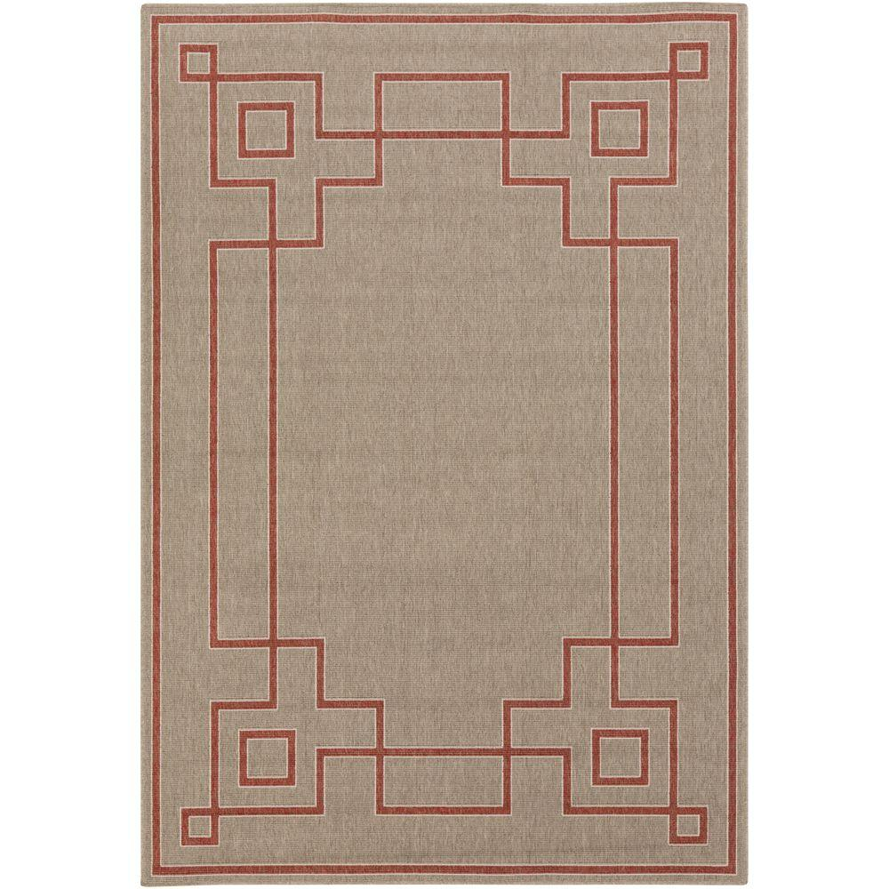 Blanche Taupe 5 ft. x 8 ft. Indoor/Outdoor Area Rug
