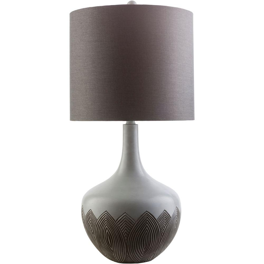 Alec 29 in. Slate Indoor Table Lamp