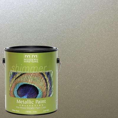 1 gal. Champagne Water-Based Satin Metallic Interior/Exterior Paint