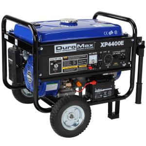 Click here to buy Duromax 4,400/3,500-Watt Gasoline Powered Electric Start Portable Generator with Wheel Kit by Duromax.