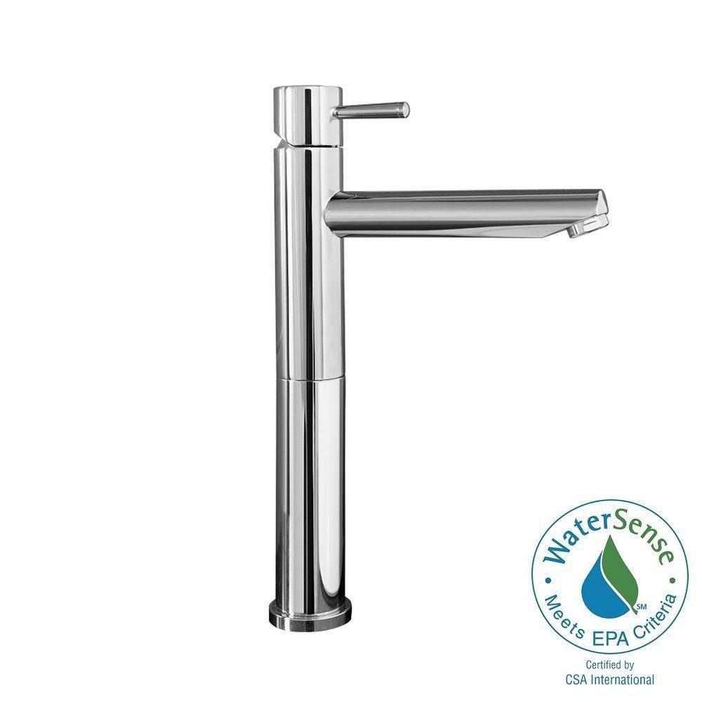 Serin Single Hole Single Handle High-Arc Bathroom Faucet in Polished Chrome