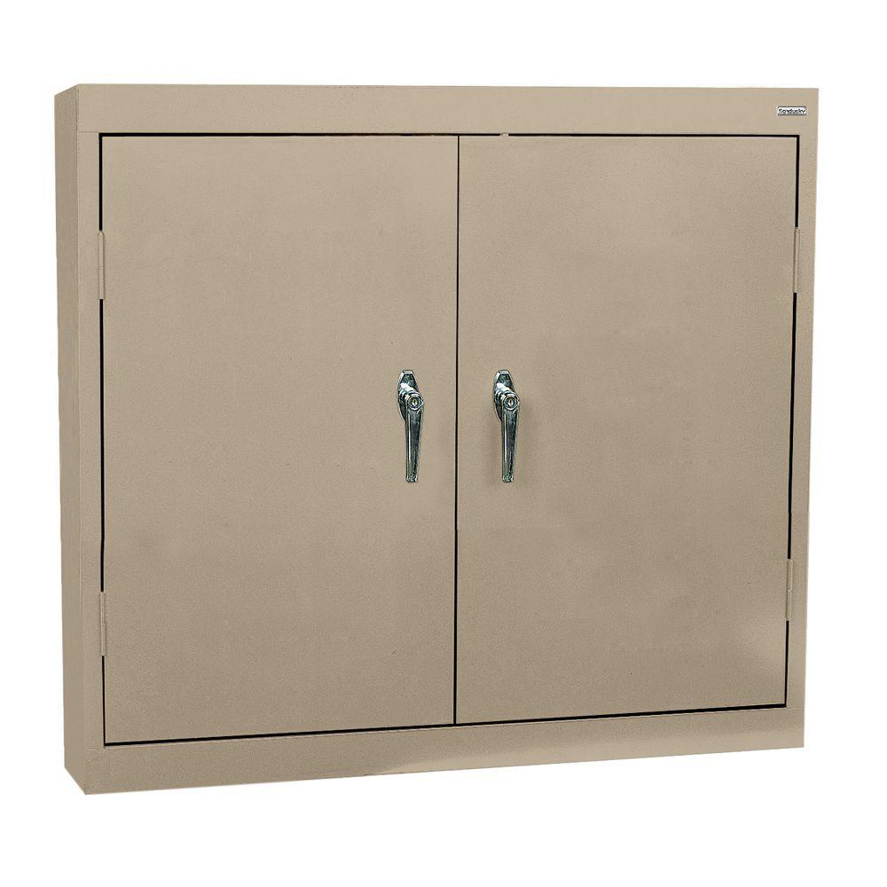 Sandusky 30 in. H x 36 in. W x 12 in. D Steel Wall Cabinet in ...