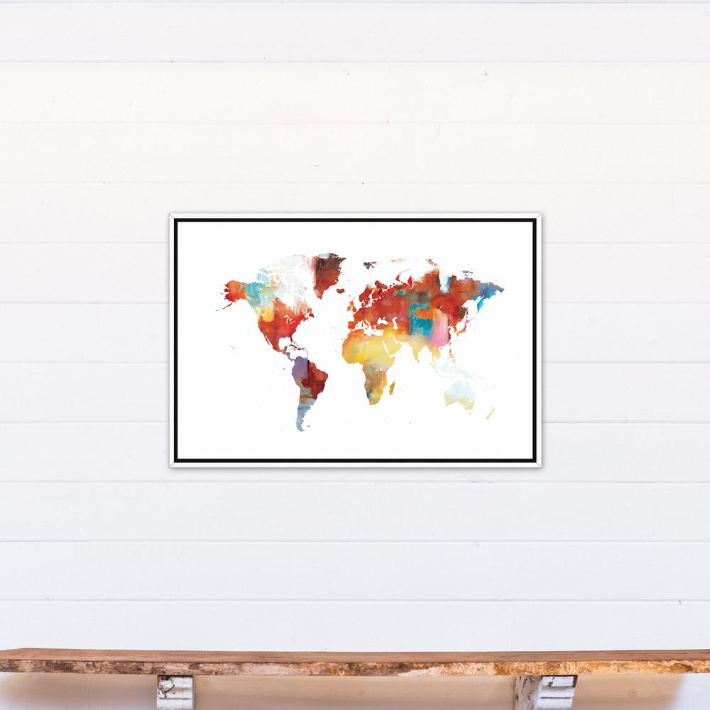 Designs direct 24 in x 36 in colorful world map printed framed colorful world map gumiabroncs Images