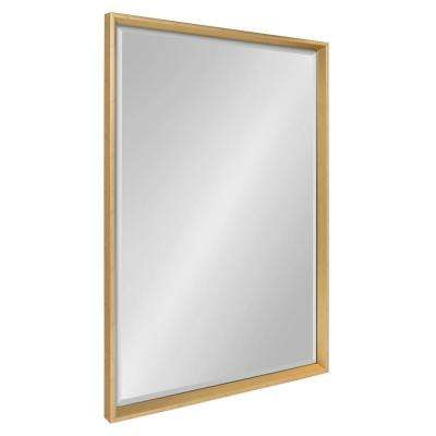 Calter Rectangle Gold Wall Wall Mirror