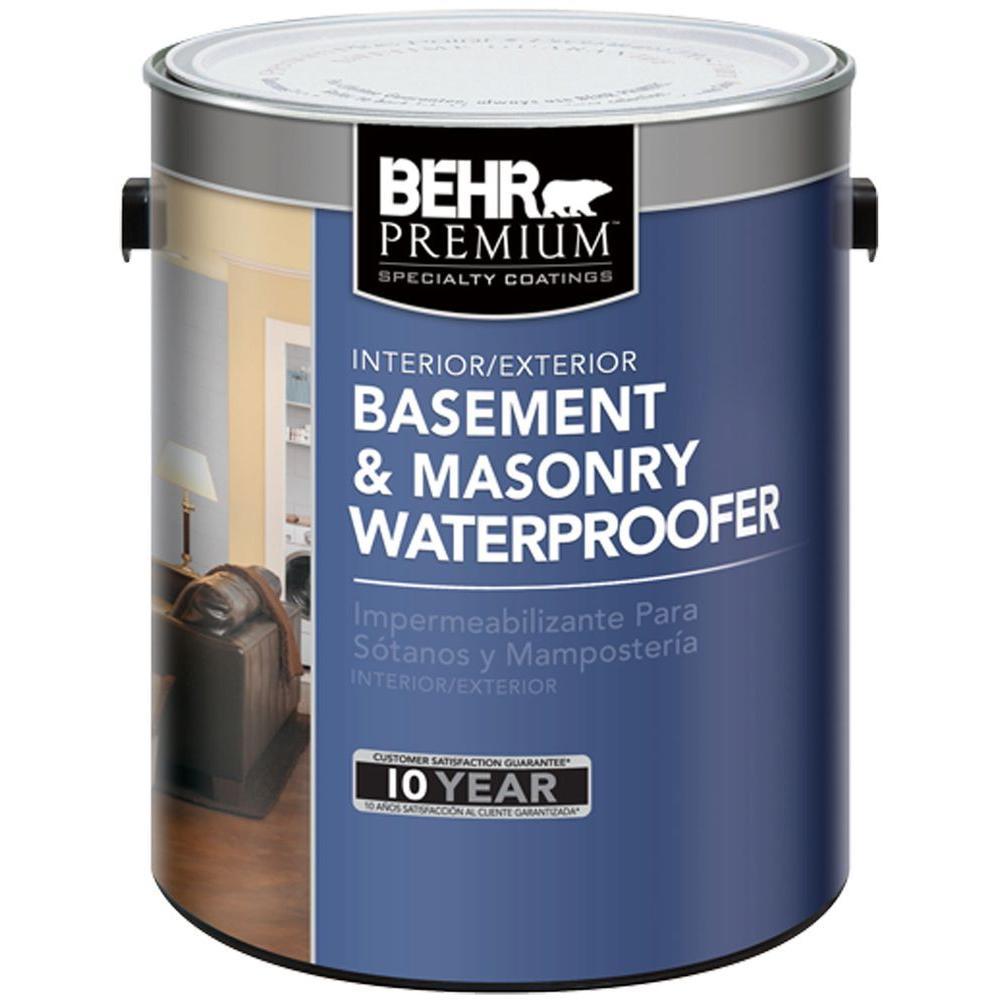 BEHR 1 gal. Basement and Masonry Interior/Exterior Waterproofer
