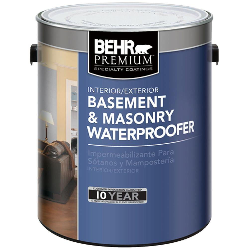 BEHR Premium 1 gal. Basement and Masonry Interior/Exterior Waterproofer