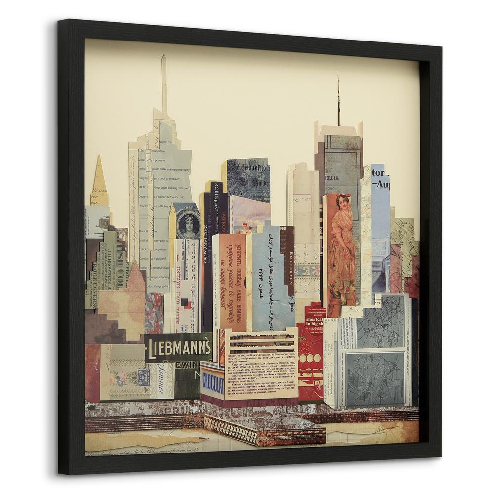 25 In X New York City Skyline Dimensional Collage
