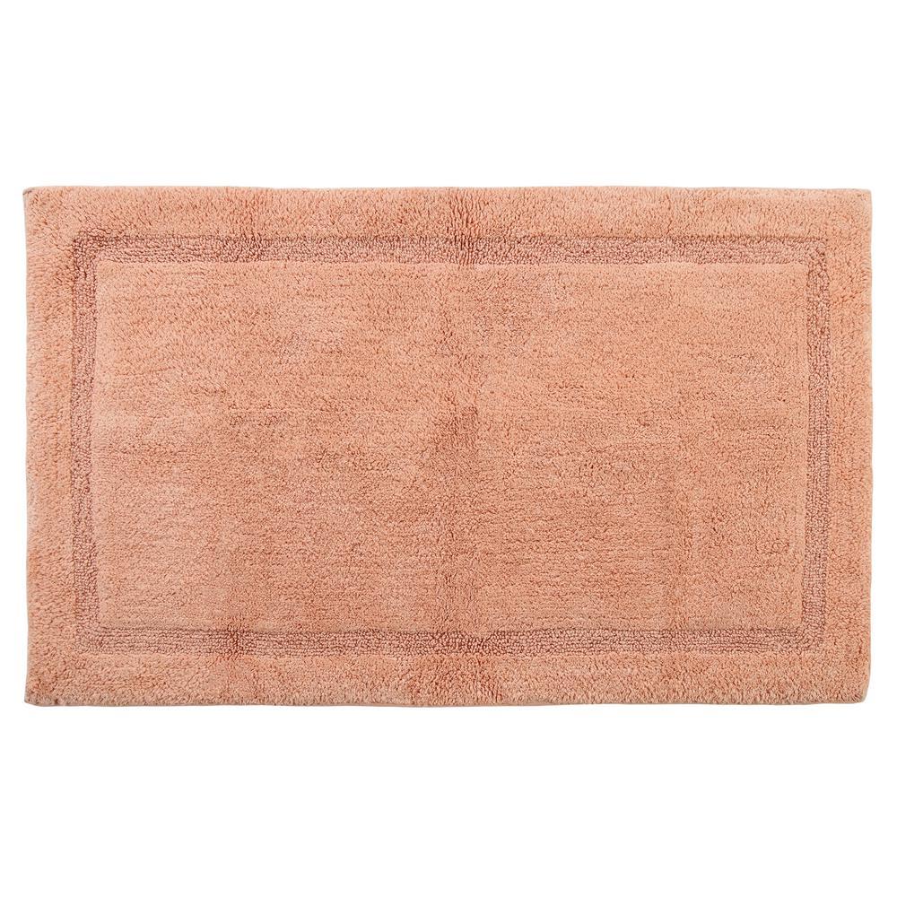Saffron Fabs Regency, 50x30 Inch, Cotton, Coral, Latex Spray Non Skid