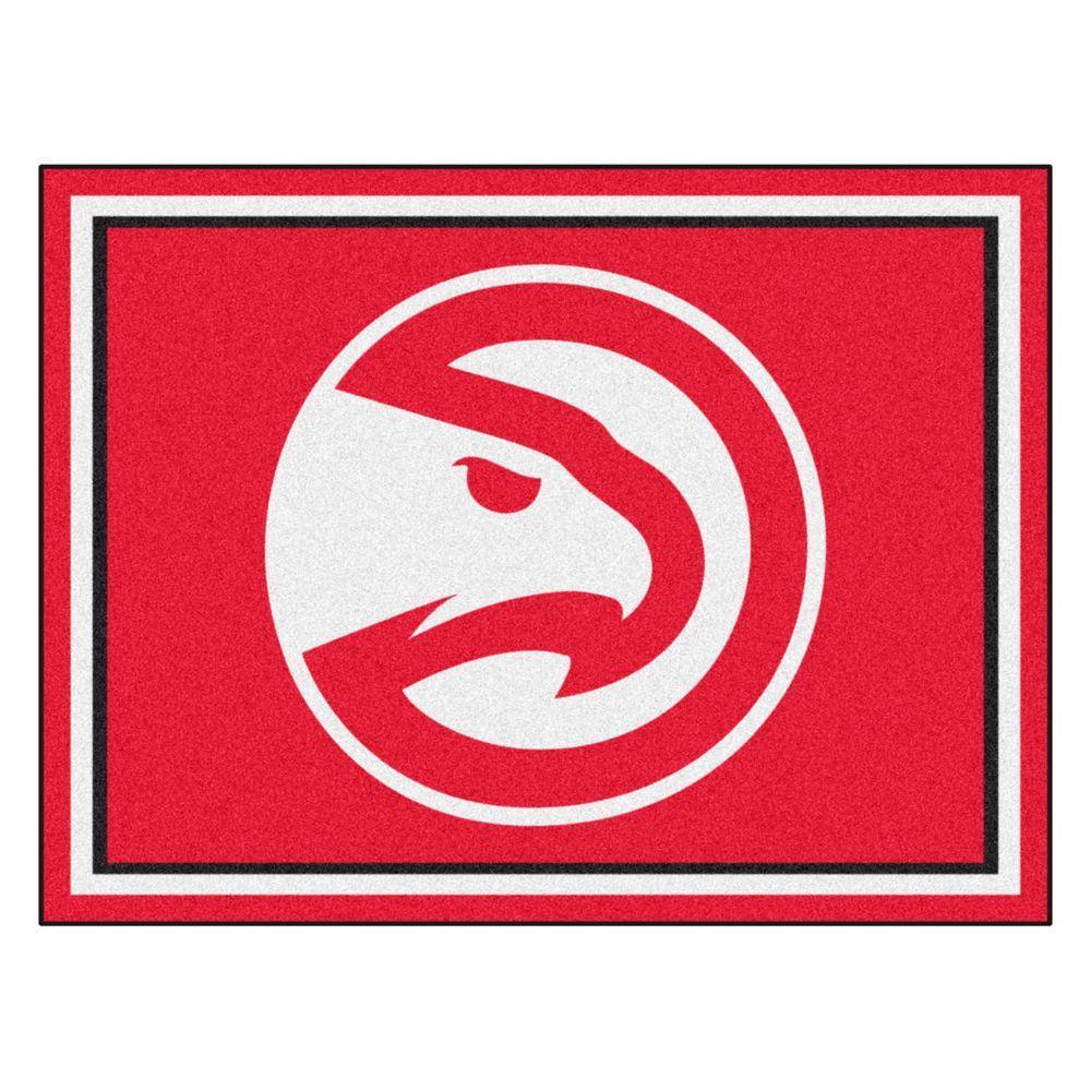 Fanmats Nba Atlanta Hawks Red 8 Ft X 10 Ft Indoor Area Rug 17442