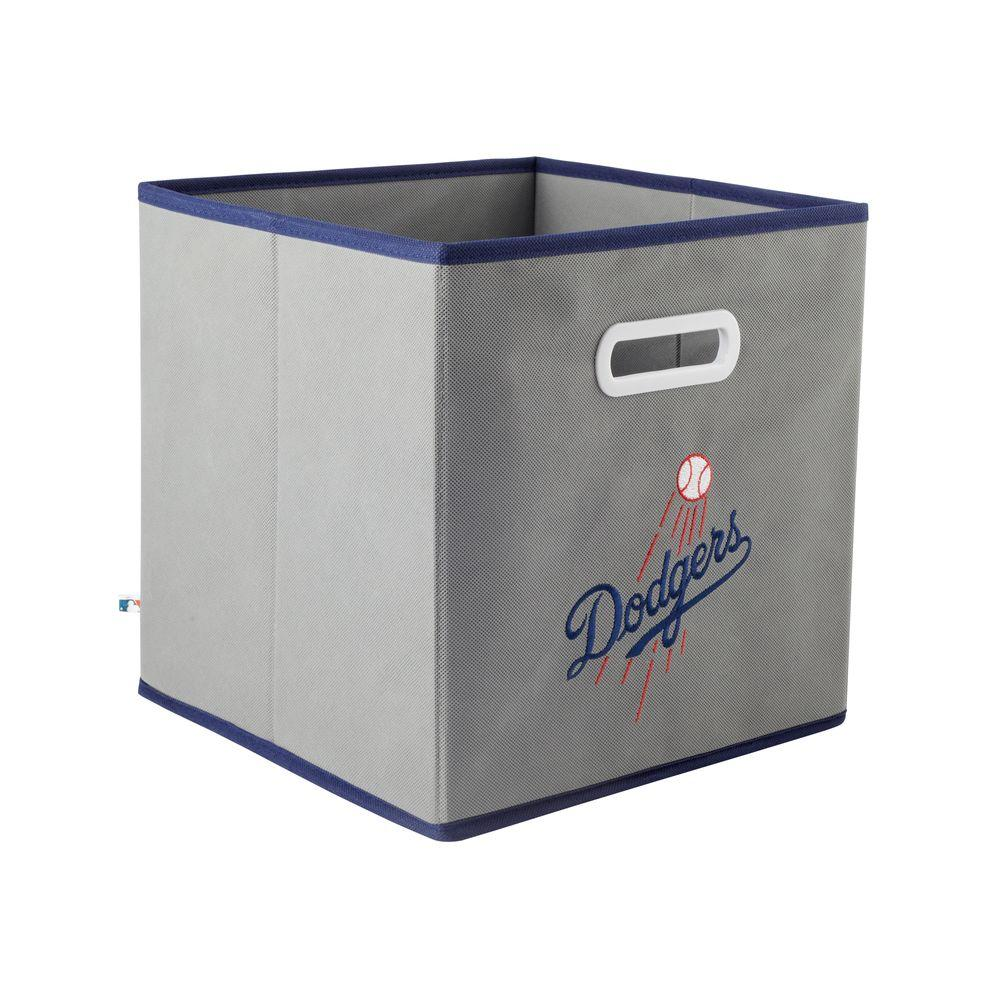 MyOwnersBox MLB STOREITS Los Angeles Dodgers 10-1/2 in. x 10-1/2 in. x 11 in. Grey Fabric Storage Drawer