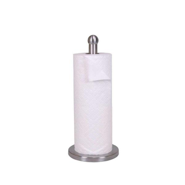 Free Standing Stainless Steel Paper Towel Holder with Weighted Base HDC50375