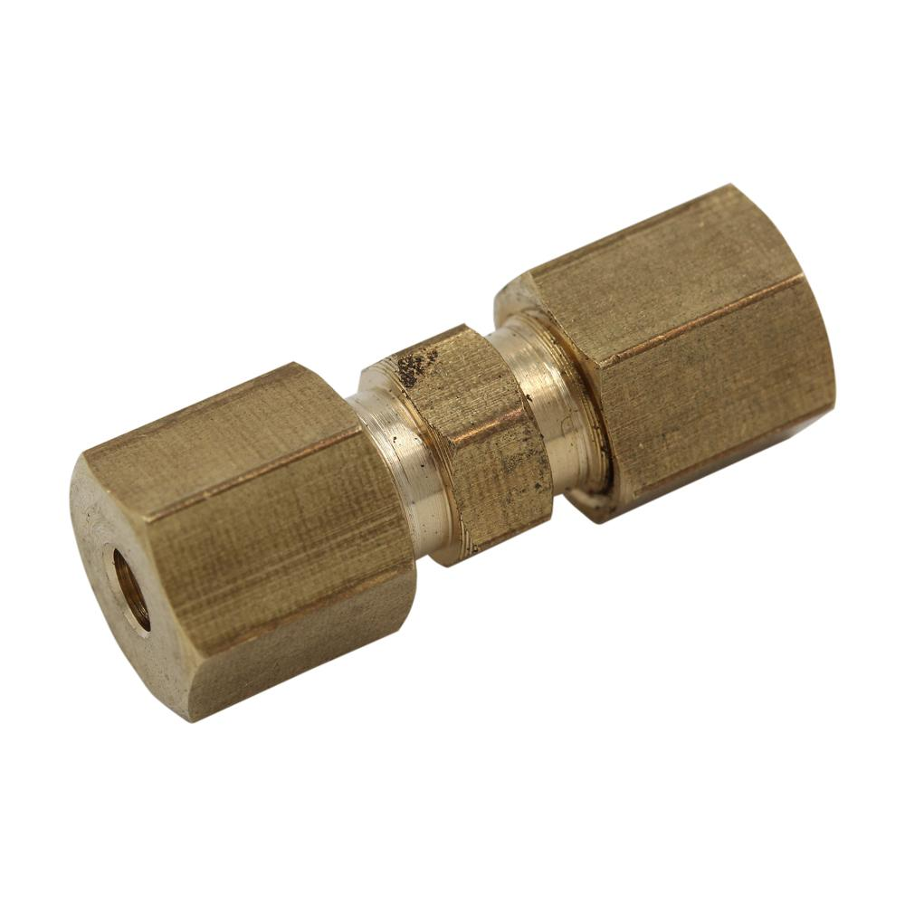 1/8 in. Brass Straight Union Compression Fitting (2-Pack)