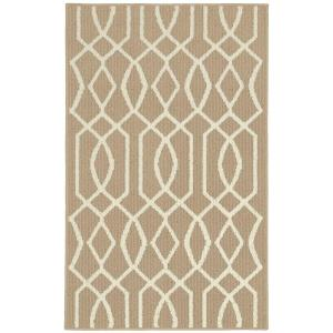 Garland Rug Fretwork Tan/Ivory 2 ft. 6 inch x 3 ft. 10 inch Accent Rug by Garland Rug