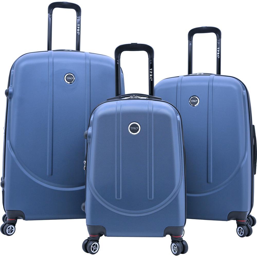 TPRC BARNET 2.0 3-Piece Cobalt Blue Hardside Expandable Vertical Luggage Set