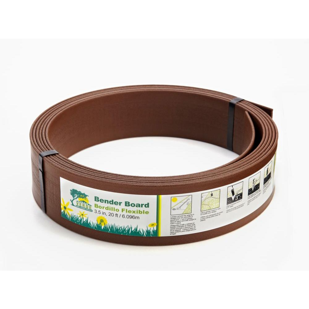 Casa Verde 3.5 in. x 40 ft. Products Brown Bender Board Lawn Edging