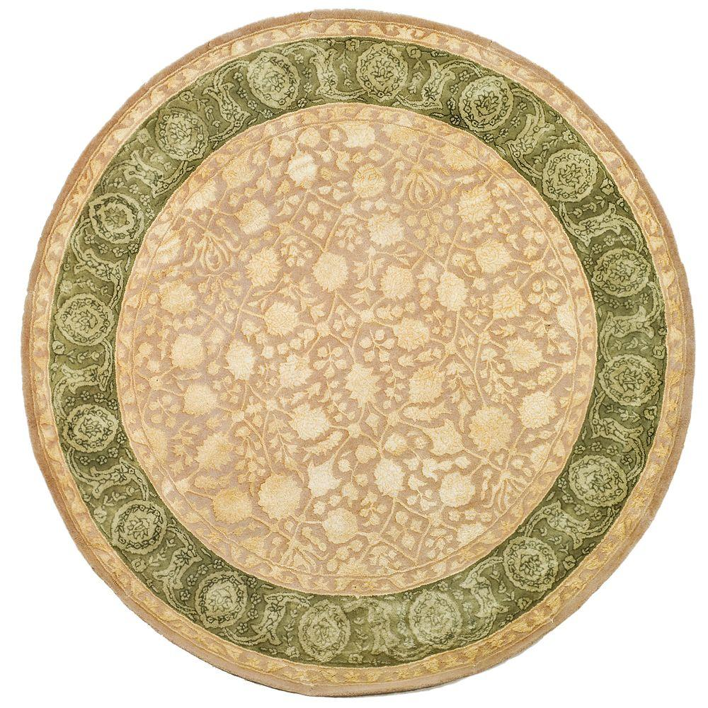 Safavieh Silk Road Ivory/Sage 8 Ft. X 8 Ft. Round Area Rug