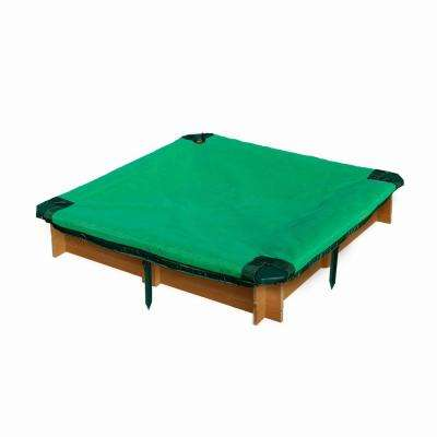 3-3/4 ft. x 3-3/4 ft. x 8 in. Square Interlocking Sandbox with Cover
