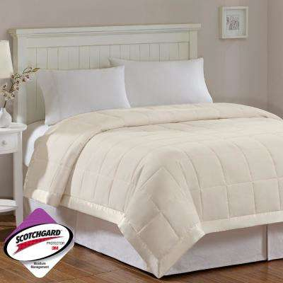 Prospect All Season Ivory Hypoallergenic Down Alternative King Quilted Blanket