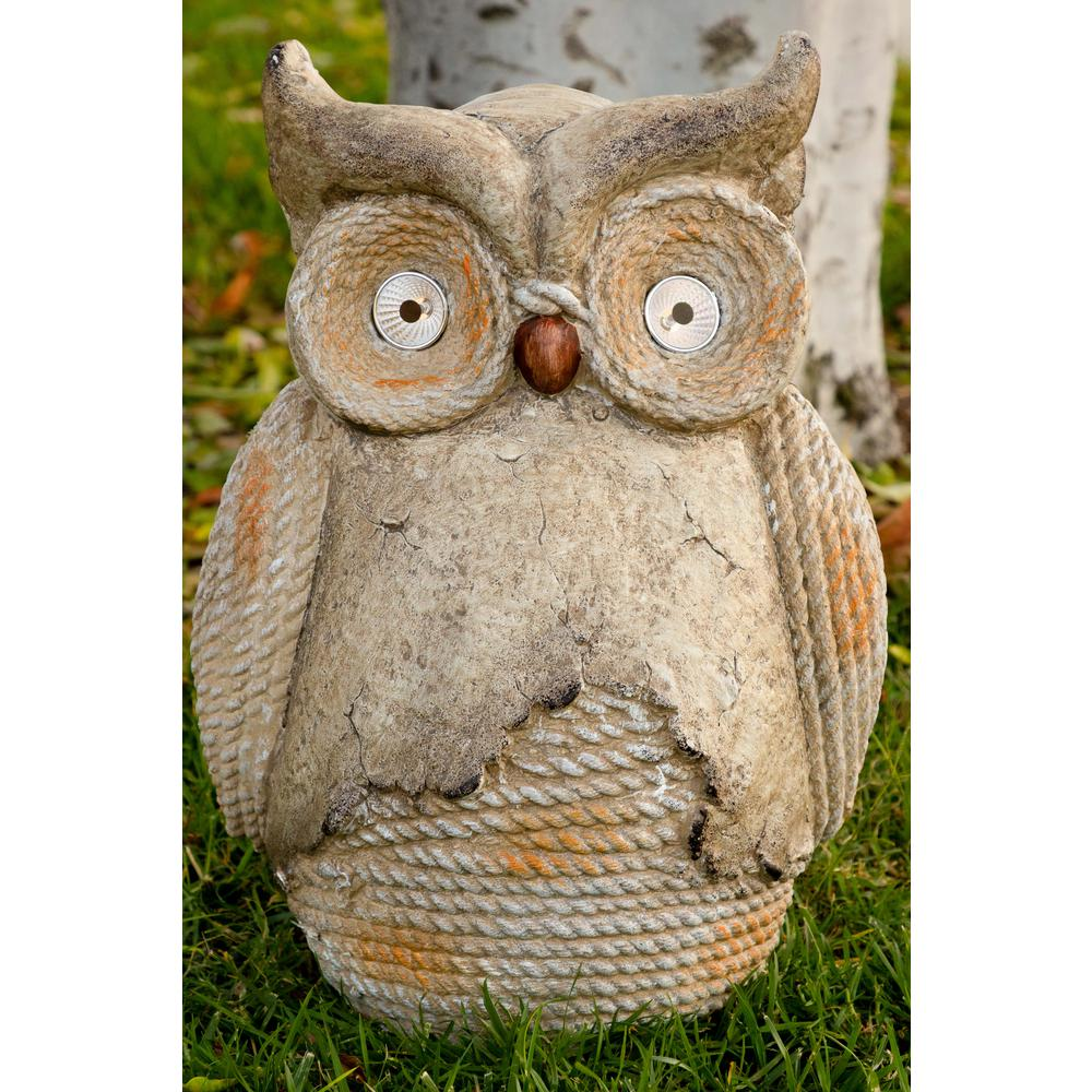 Alpine Solar Owl Rope Statuary