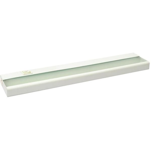 21 in. White LED Under Cabinet Lighting Fixture