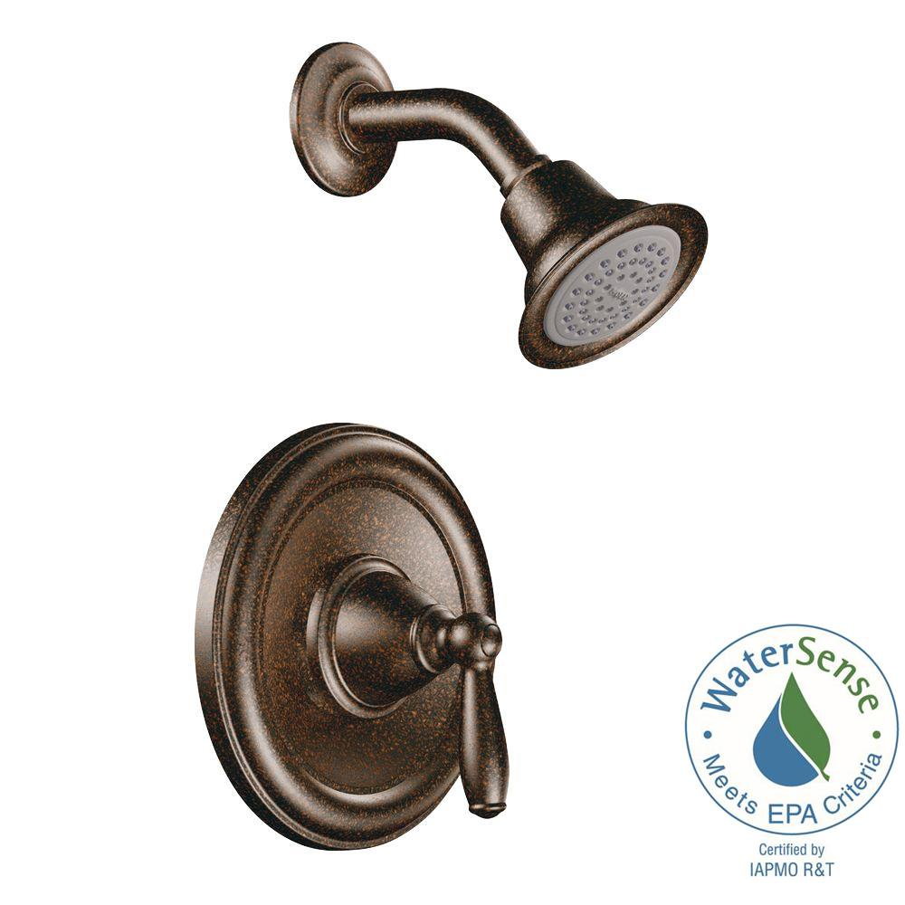 MOEN Brantford 1-Handle Posi-Temp Shower Only Trim Kit in Oil Rubbed Bronze (Valve Not Included)