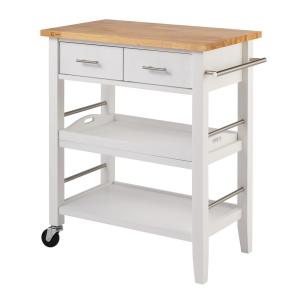 +6. Trinity White Kitchen Cart With Drawers ...