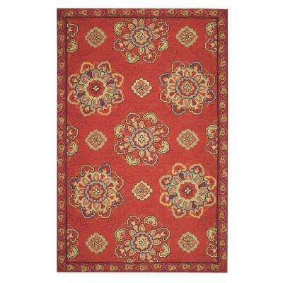Bianca Red 9 ft. x 12 ft. Area Rug