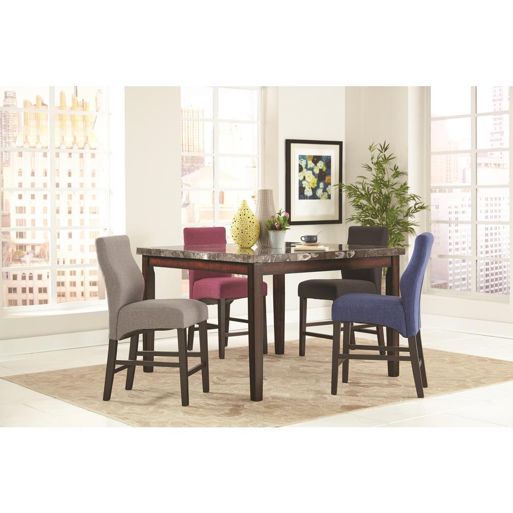 Coaster dark blue dark cappuccino counter height stool set of 2