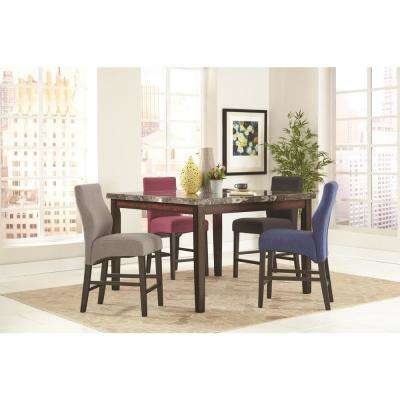 Dark Blue/Dark Cappuccino Counter Height Stool (Set of 2)