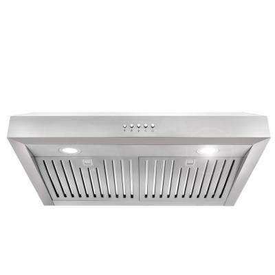 30 in. Ducted Under Cabinet Range Hood in Stainless Steel with LED Lighting and Permanent Filters