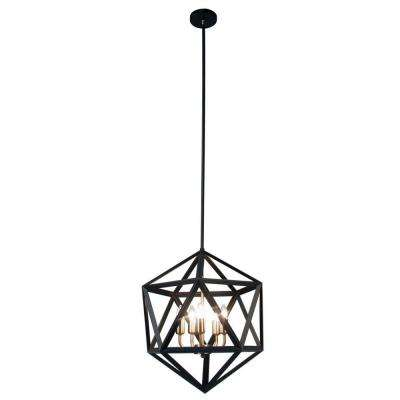 Archello 5-Light Matte Black Chandelier