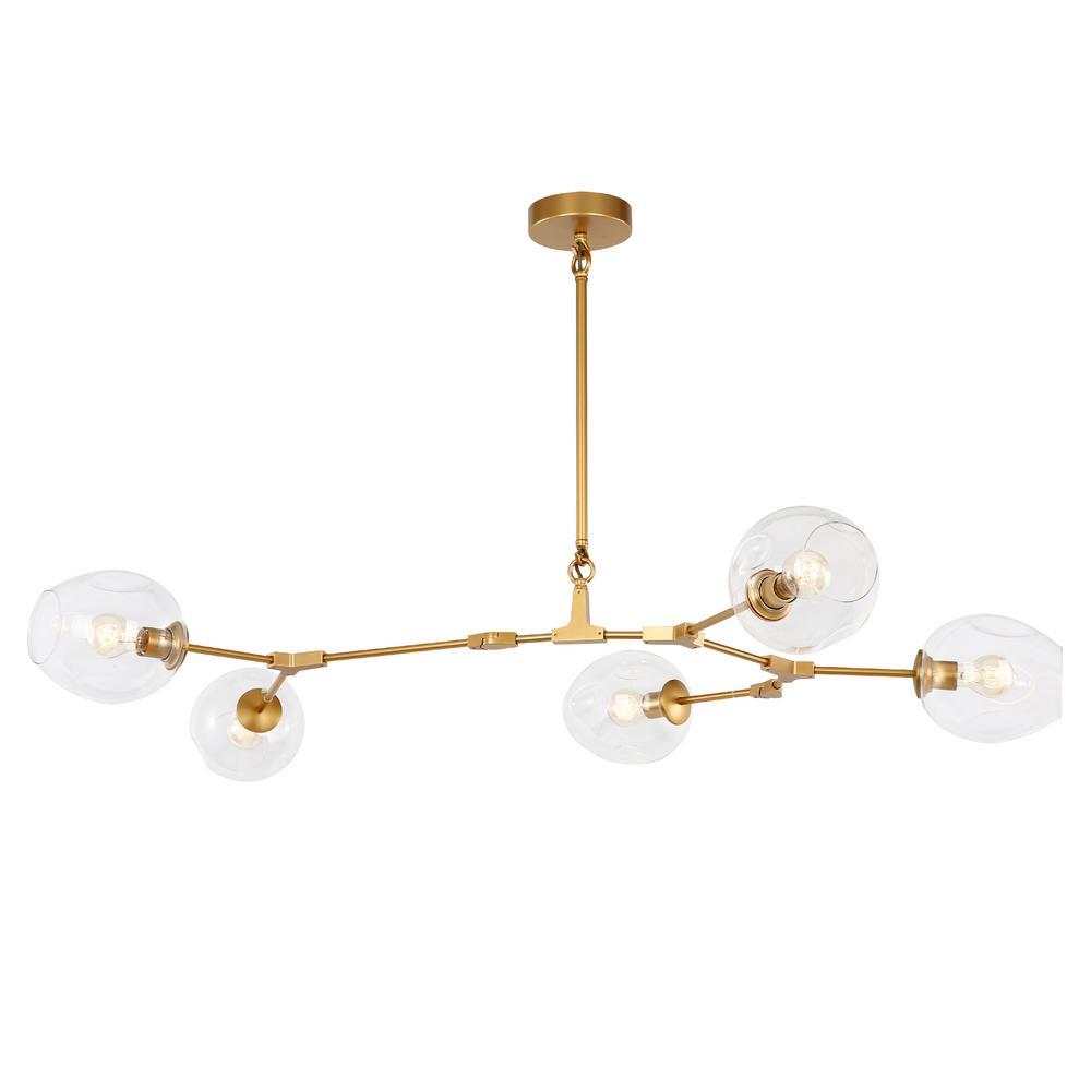 Thurston 5-Light Brass Chandelier