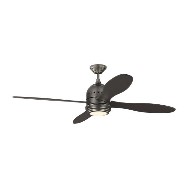 TOB by Thomas O'Brien Metrograph 56 in. Integrated LED Indoor Bronze Ceiling Fan with DC Motor and Remote Control