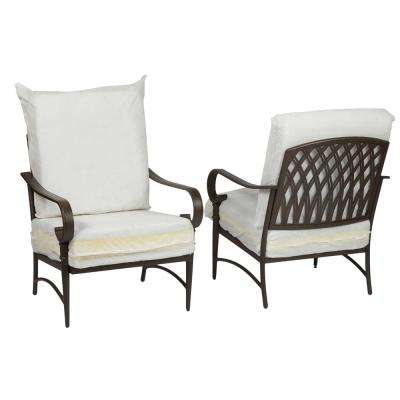 Oak Cliff Brown Steel Outdoor Patio Lounge Chair with Bare Cushions (2-Pack)