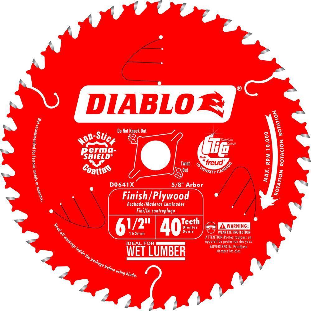Diablo 6-1/2 inch x 40-Teeth Finish/Plywood Saw Blade by Diablo