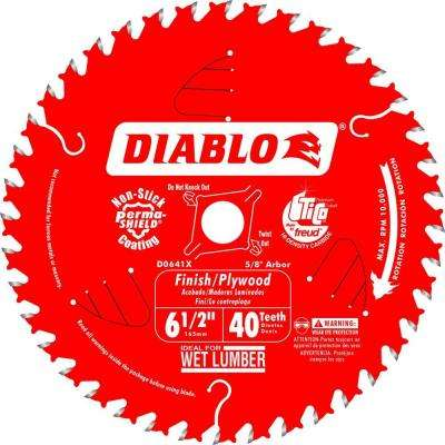 6-1/2 in. x 40-Teeth Finish/Plywood Saw Blade