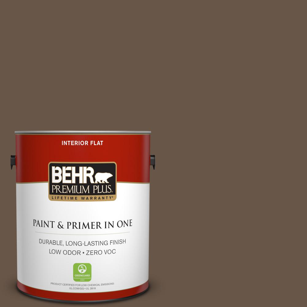 1 gal. #PPU7-25 Clove Brown Zero VOC Flat Interior Paint