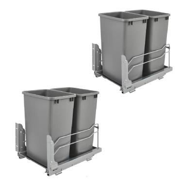 Double 35 Qt. Pullout Waste Container Trash Can (2-Pack)